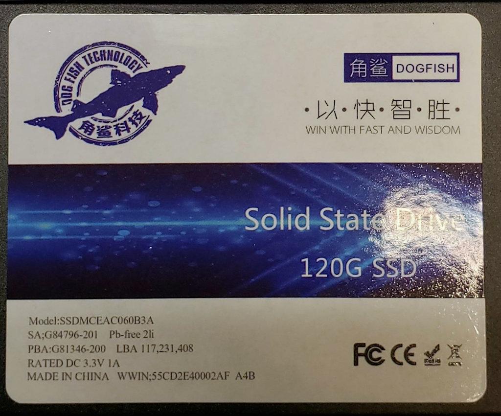 DOGFISH 120GB SSD